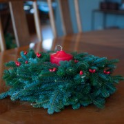 christmas wreath centerpiece