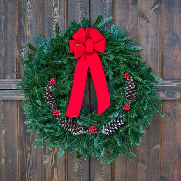 real christmas wreath